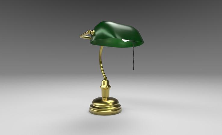 bankers lamp free 3d model