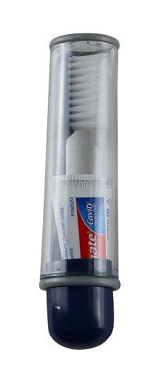 Brosse à dents compacte et dentifrice C.A.O.