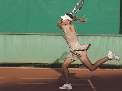Tennis-Aktion-Shot