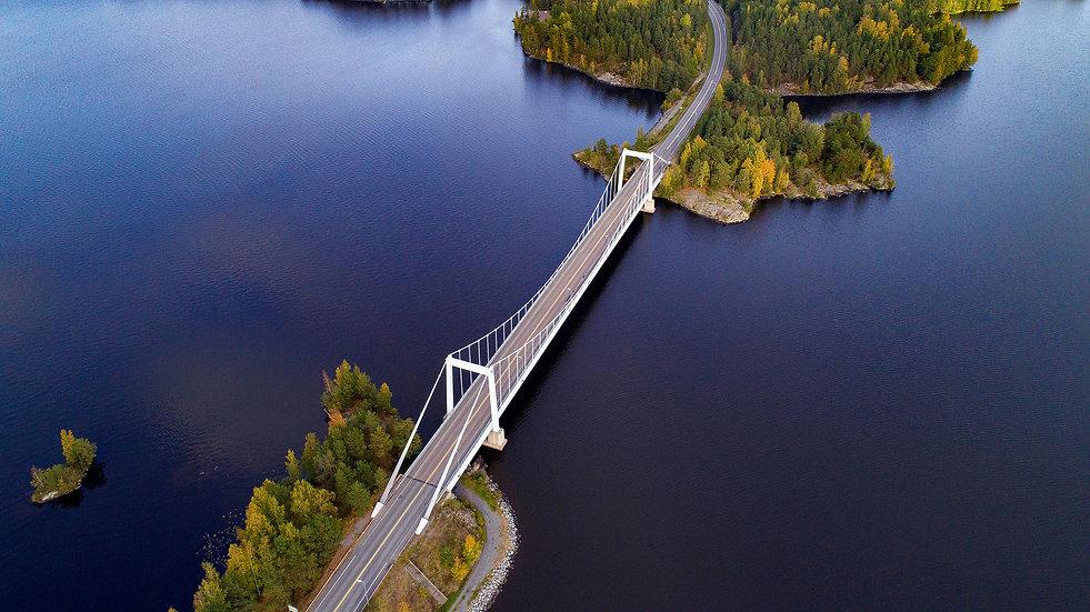 Foto drone silta Valkeakosi