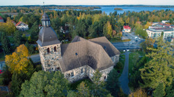 Drone Kangasalan kirkko