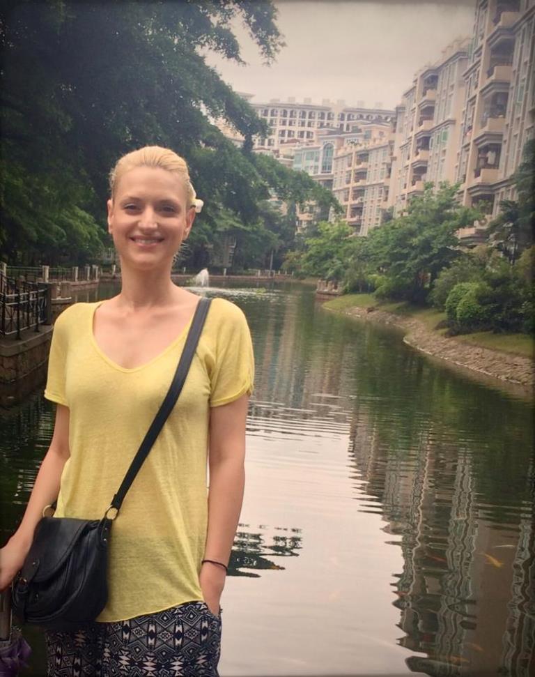 Raluca Pietroiu in Zhongshan, China [Simina Mistreanu/Al Jazeera]