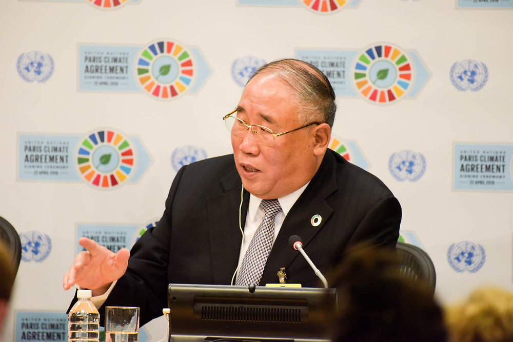 Xie Zhenhua, China's top climate negotiator, stressed China's commitment to both the Paris Agreement and the 2030 Agenda for Sustainable Development