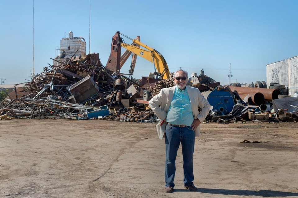Michael Marks poses for a portrait on Monday morning, June 8, 2015, at his ABC Recycling business in Wichita. Roxana Pop for Al Jazeera America