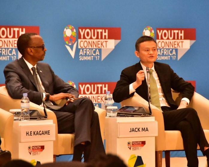 Paul Kagame et Jack Ma au Sommet YouthConnekt Africa à Kigali, Rwanda