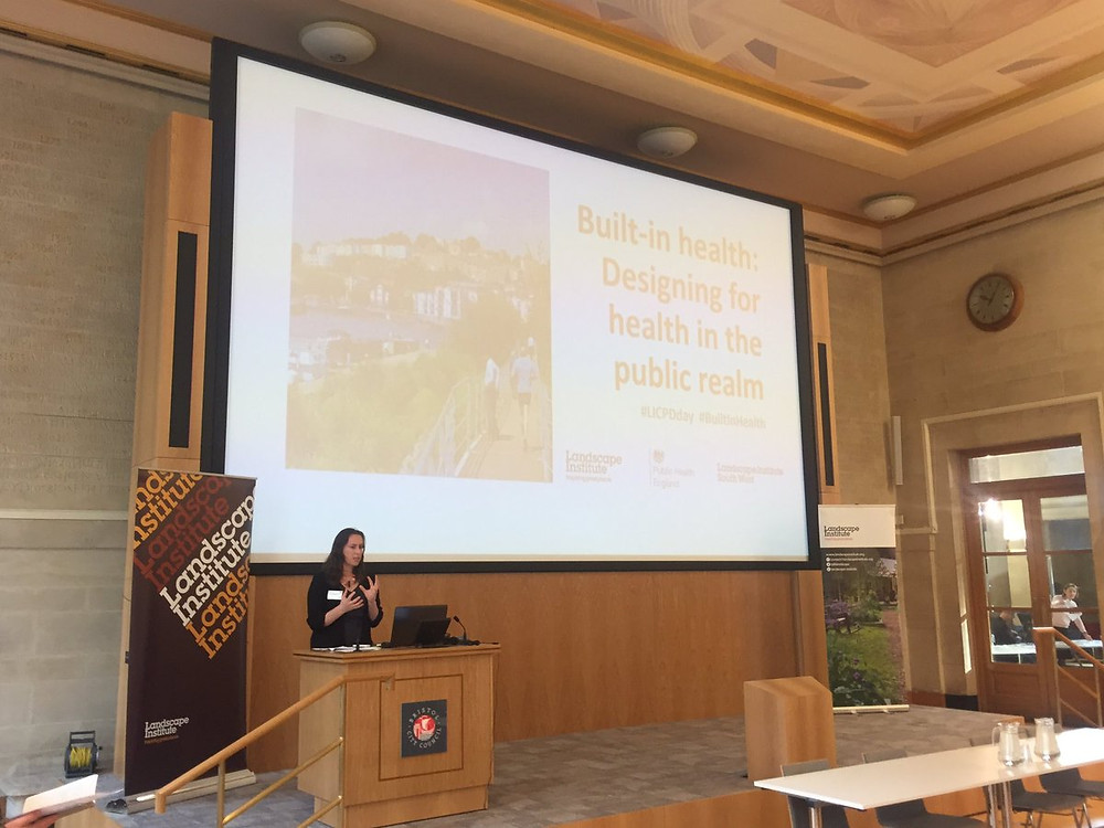 Director Sarah Jones-Morris hosted this years Landscape Institute conference on Built-in health: Desinging for health in the public realm on 2nd November at City Hall Bristol https://www.landscapeinstitute.org/event/cpd-jellicoe-2017/.  She also co-hosted an interactive soundmapping tour of Bristol with Paul Driscoll from Ramboll and Antonella Radicchi from Berlin Tech using her open source Hush City App