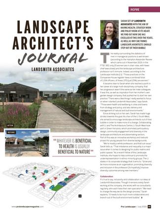Article in Pro Landscaper Magazine