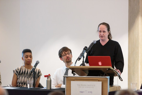 """Alison Winter speaks on the panel on """"Rethinking Humanities and the Sciences."""""""