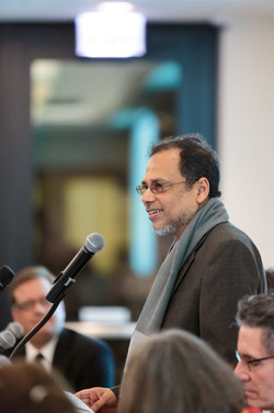 """Dipesh Chakrabarty speaks on the panel on """"Rethinking Humanities and the Sciences."""""""