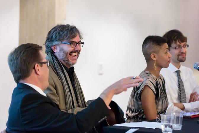 David Schloen, Steven Rings, Jacqueline Stewart, and Patrick Jagoda discuss their upcoming talks.