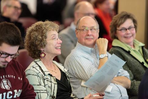 After the four panels, Kineret Jaffe, Bill Sterner, and Kate Slomski enjoy the Q & A session.