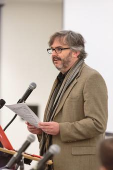 """Steven Rings speaks on the panel on """"New Technologies."""""""