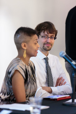 """Jacqueline Stewart and Patrick Jagoda will address the topic of """"Public Humanities."""""""