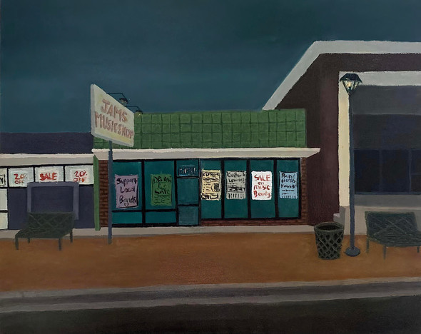 Down at the Music Store | Oil