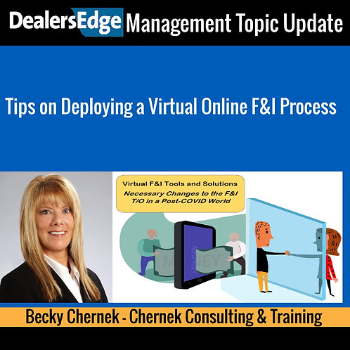 Tips on Deploying a Virtual Online F&I Process