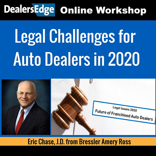 Legal Challenges for Auto Dealers in 2020