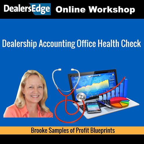 Dealership Accounting Office Health Check