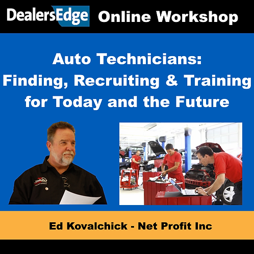 Auto Technicians: Finding, Recruiting & Training for Today and the Future