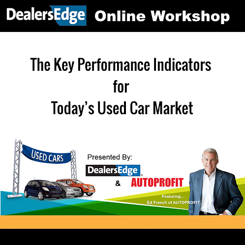 The Key Performance Indicators for Today's Used Car Market