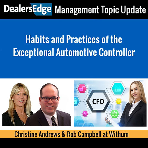 Habits and Practices of the Exceptional Automotive Controller