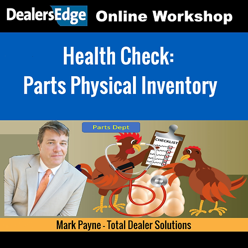 Health Check: Parts Physical Inventory