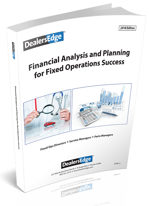 SPECIAL! Financial Analysis and Planning for Fixed Operation
