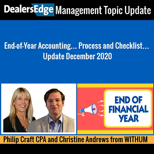 End-of-Year Accounting Process and Checklist Update December 2020