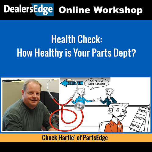 Health Check: How Healthy is Your Parts Dept?