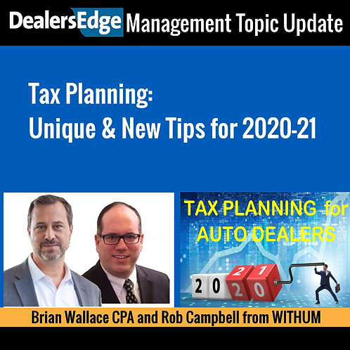 Tax Planning: Unique & New Tips for 2020-21