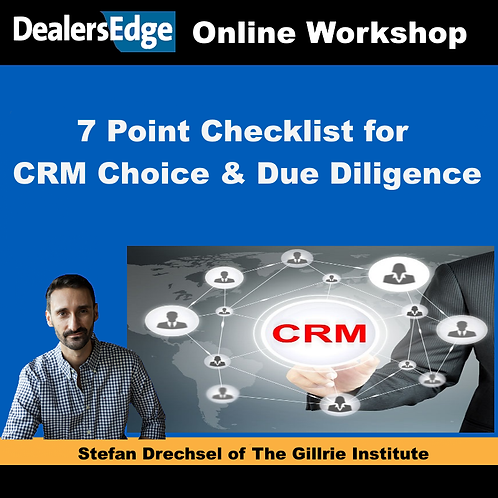 7 Point Checklist for CRM Choice & Due Diligence