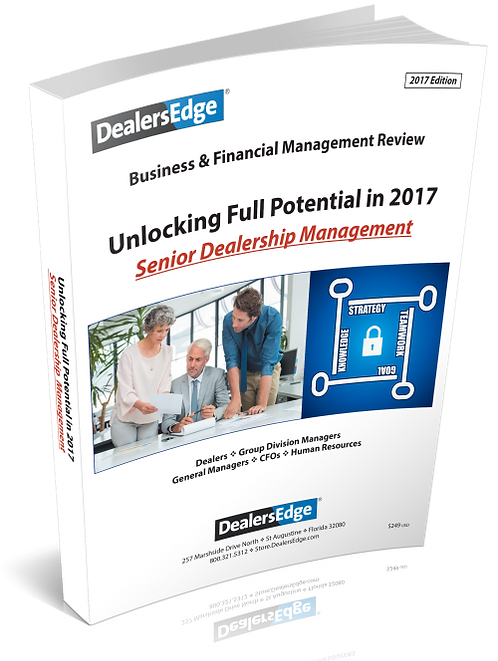 For Senior Dealership Managers - Unlocking Your Full Potential in 2017