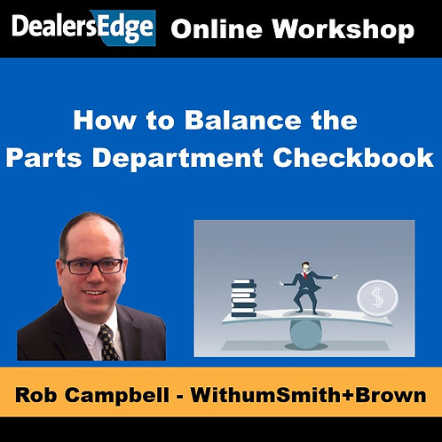 How to Balance the Parts Department Checkbook