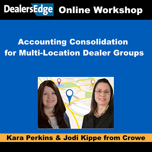 Accounting Consolidation for Multi-Location Dealer Groups