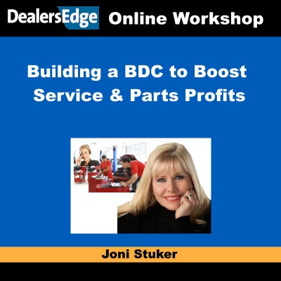 Joni Stuker: Building a BDC to Boost Service & Parts Profits