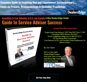 Guide to Service Advisor Success