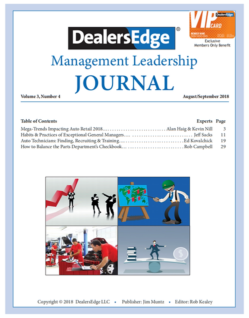 The DealersEdge Journal of Leadership and Management Volume 3, Number 4 2018