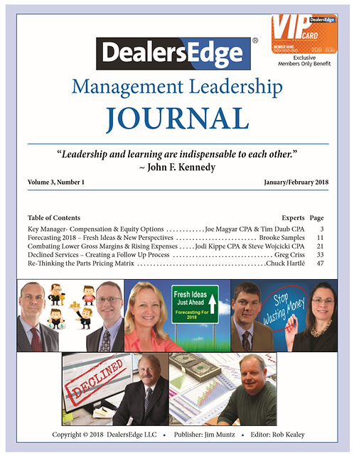 The DealersEdge Journal of Leadership and Management Volume 3, Number 1 2018
