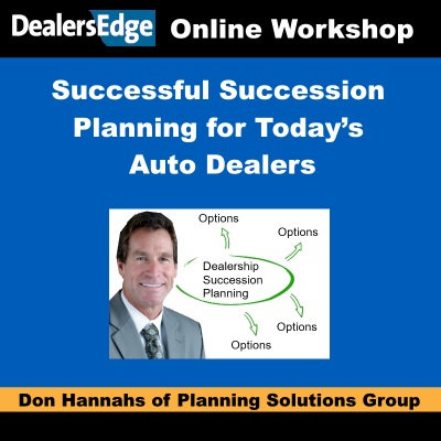 Successful Succession Planning for Today's Auto Dealers