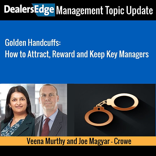 How to Attract, Reward and Keep Key Managers