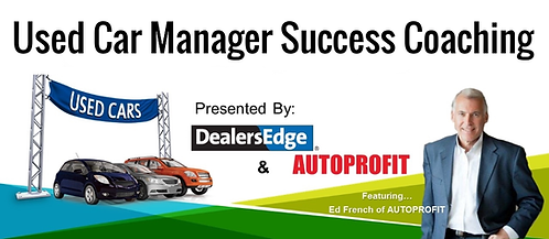 Streaming & On Demand Used Car Manager Success Coaching