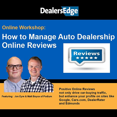 How to Manage Auto Dealership Online Reviews