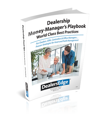 Dealership Money-Manager's Playbook - World Class Best Practices