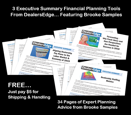3 DealersEdge Executive Summaries  Financial Planning Tools
