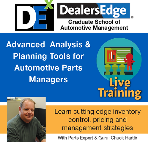 Advanced Analysis & Planning Tools for  Automotive Parts Managers