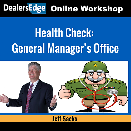 Health Check: General Manager's Office