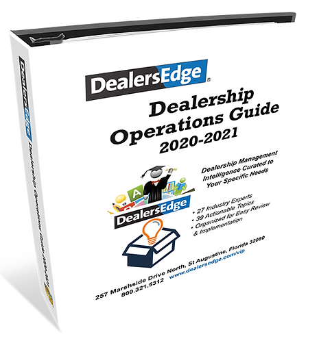 Dealership Operations Guide 2020-2021