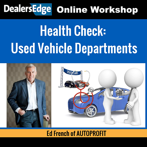 Health Check: Used Vehicle Departments