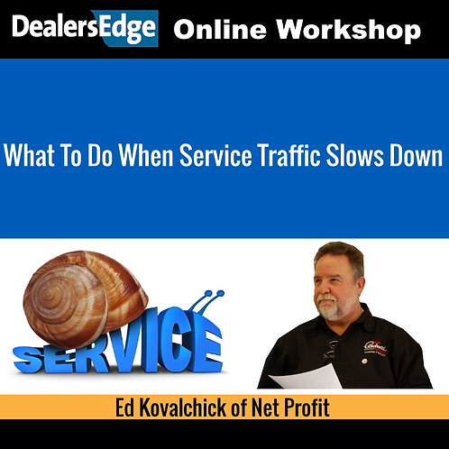 What To Do When Service Traffic Slows Down