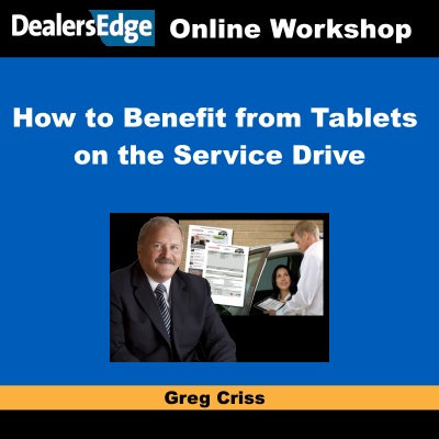 How to Benefit from Tablets on the Service Drive