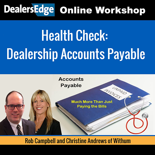 Health Check: Dealership Accounts Payable